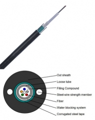 Armored Outdoor Fiber Cable, Unitube Light-Armored Loose Tube Fiber Optic Cable