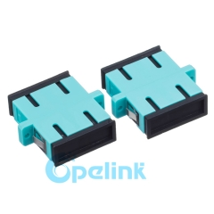 SC Plastic Duplex Multimode OM3 Fiber Optic Adapter