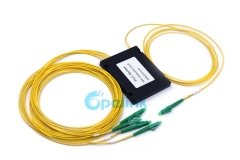 1X4 LC/APC Plastic ABS Box Fiber PLC Optical Splitter