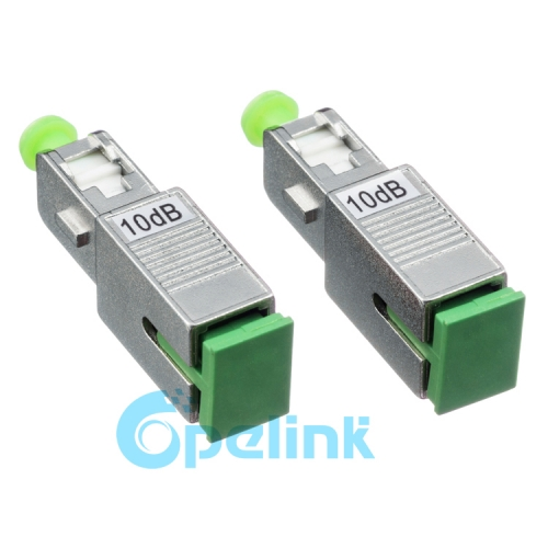 SC/APC-SC/APC Metal Connector type Fiber Optic Attenuator, Plug-in Fixed Optical Attenuator