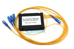 1X4 SC/PC Plastic ABS Box Fiber Optic PLC Splitter