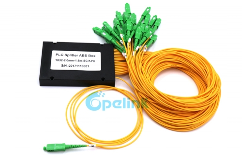 1X32 2.0mm fiber cable SC/APC ABS Box Fiber Splitter