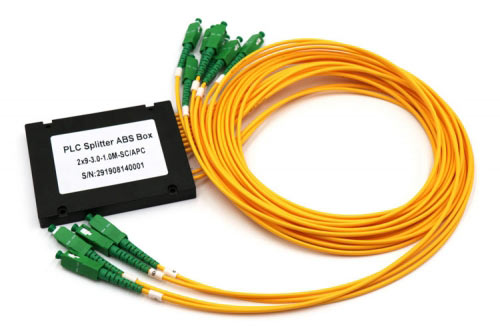 2X9 SC/APC Plastic ABS Box Fiber Optic PLC Splitter