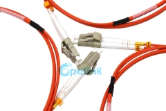 LC-LC Armored Fiber Optic Patch Cord , 2.0mm Duplex Fiber Cable