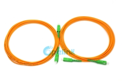 SC/APC-SC/APC 3.0mm SM Simplex 9/125 Fiber Optic Patch Cord