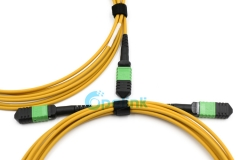MPO/MTP Round Fiber Cable Singlemode Fiber Optic Patch Cord