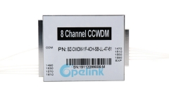 8CH CCWDM Module , 0.9mm LC/PC Optical Compact CWDM With EXP Port